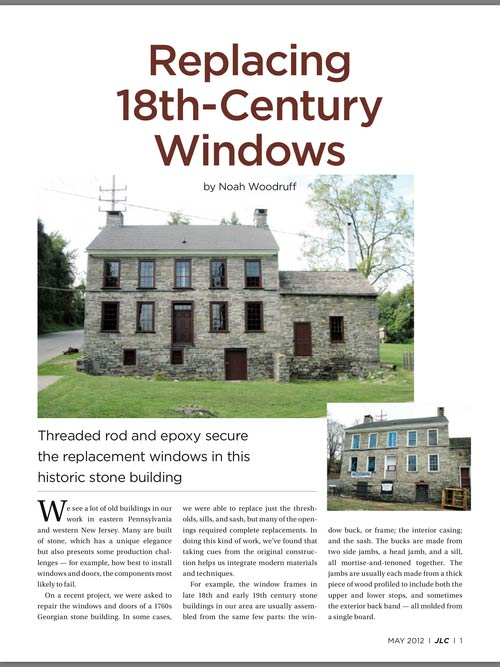 Replacement 18th Century Window Contractor