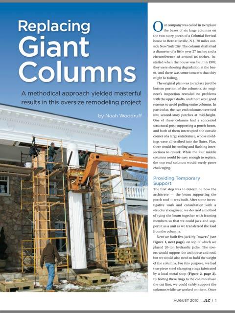 Giant 18th Century Columns Contractor Architect